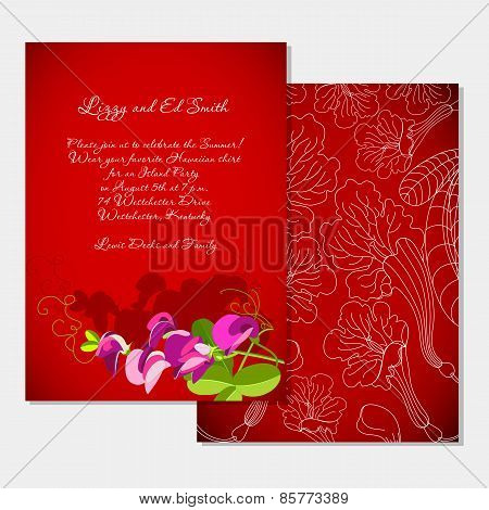 invitation template on tropical party