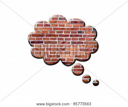 Brick Speech Bubble
