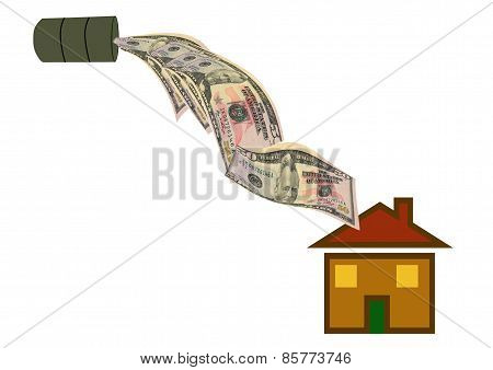 Pouring Money Into Property
