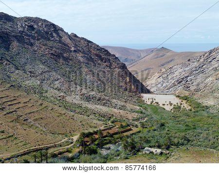 Buen Paso valley on Fuerteventura