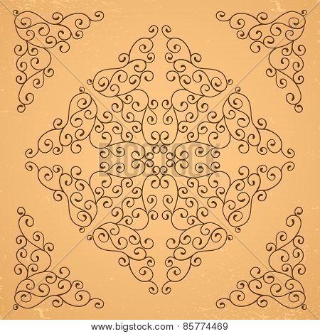 Decorative floral elements.