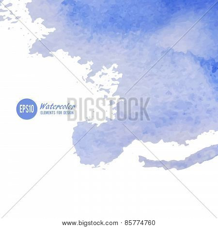 Vector watercolor background. Abstract art hand paint.