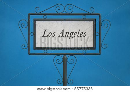 Los Angeles On A Signboard