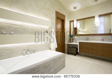 Bath And Washbasin
