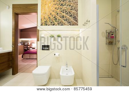 Hotel Room With Private Toilet
