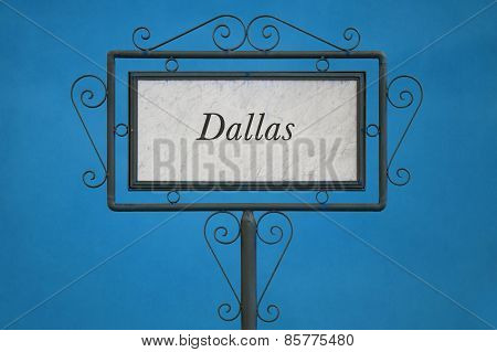 Dallas On A Signboard