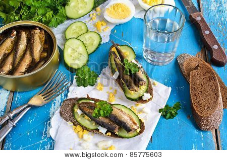 Sandwich With Fish