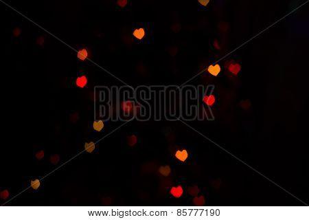 Red Orange Heartshaped Bokeh
