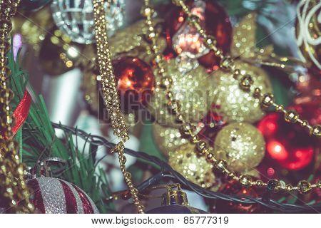 Retro Colorful Christmas Decorations