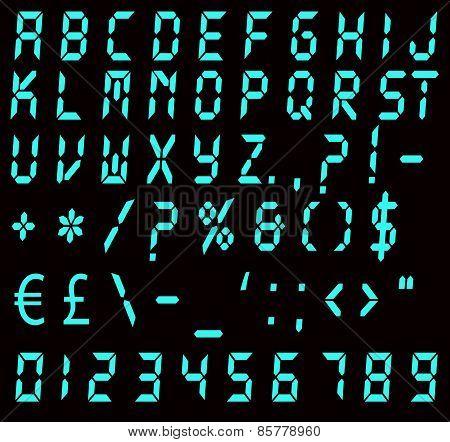 Digital Blue Alarm Font