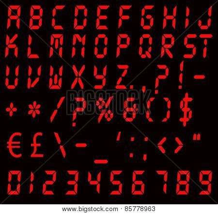 Digital Red Alarm Font