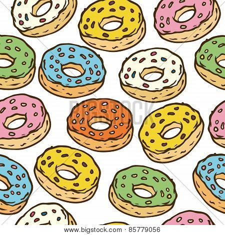 Donuts Seamles Pattern