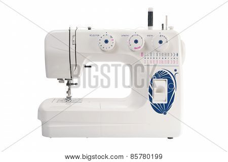 Sewing Machine Of White Color