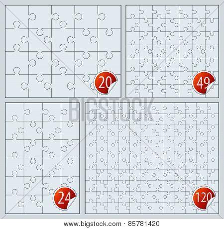 Puzzle set 20, 24, 49, 120 pieces