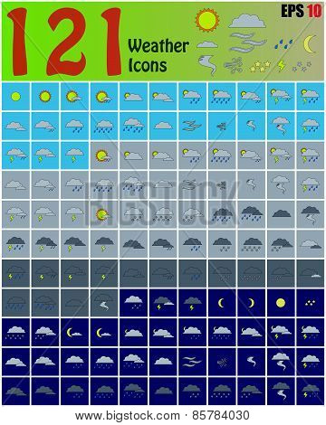 121 Weather Icons