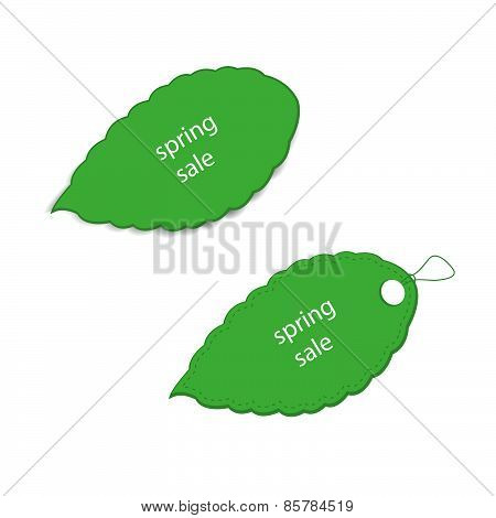 Two Green Price Tags
