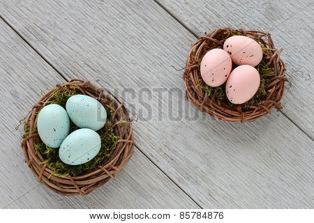 Little Easter Eggs In Nests