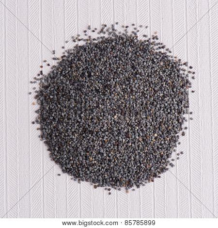 Circle Of Poppy Seeds