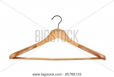 Classic wooden coat hanger