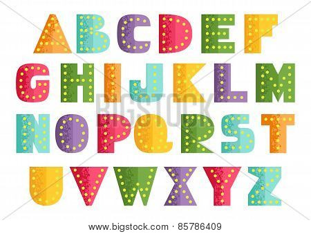 Bright Placard Alphabet
