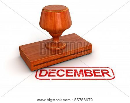 Rubber Stamp December (clipping path included)