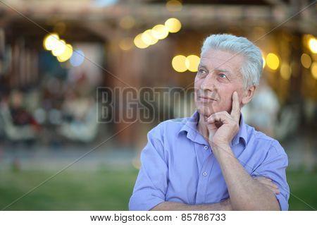 thoughtful mature man