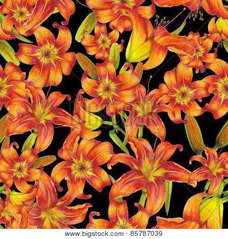 Pattern of lilies