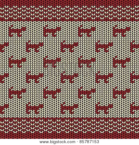 Fabric line background pattern with silhouette of cat