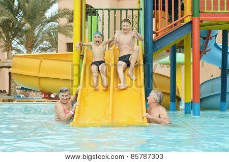 family having fun