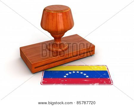 Rubber Stamp Venezuela flag (clipping path included)
