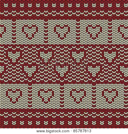 Fabric line background pattern with love heart