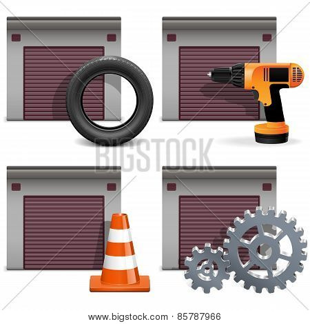 Vector Garage Icons Set 2