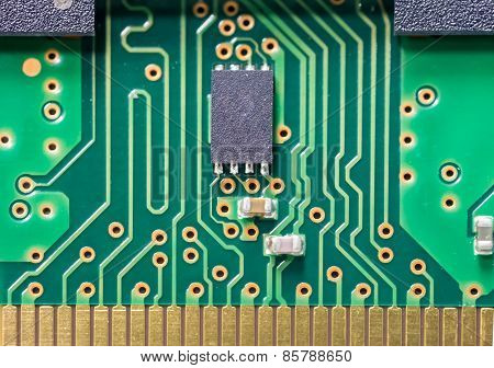 Macro Shot Of Electronic Board