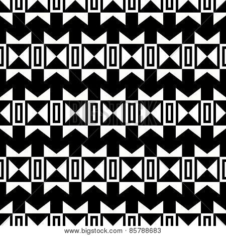 Black And White Indian Seamless Ornament