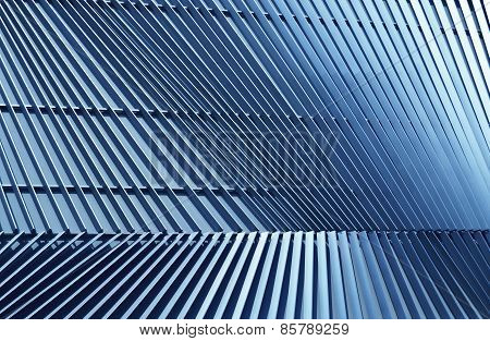 Detail Of Pattern Metal Facade For Background