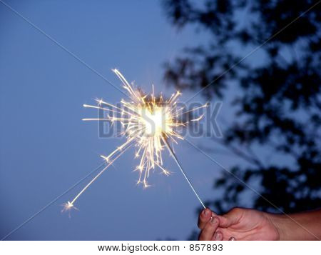 Sparklers At Night