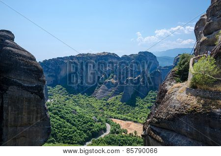 Greece, Meteors, Climb To Monastery Of St. Varlaam
