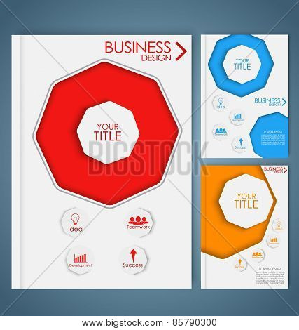 Design Color Business Brochures