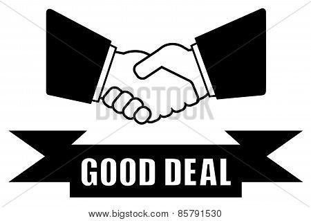 good deal handshake icon