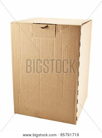Cardboard box package isolated