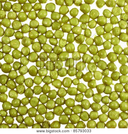 Surface covered with green peas