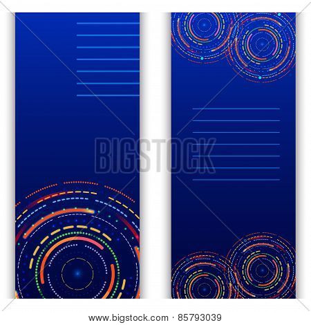 Templates Futuristic Glowing Ring Vector