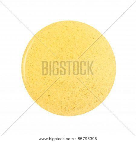 Round spill of honey