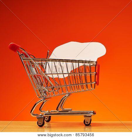Car shape inside shopping cart