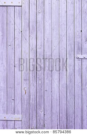 Painted The Fence Of The Old Wooden Planks Background