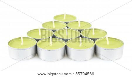 Tea light candles composition