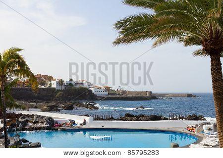 public pools Lagos Martianes at Puerto de la Cruz, Tenerife, Spain
