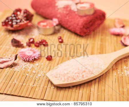 Pomegranate and aromatic salt
