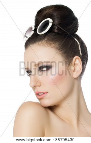 Woman With Retro Sunglasses