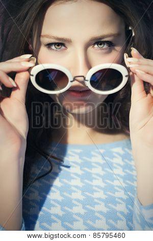 Woman Sixties Style Closeup